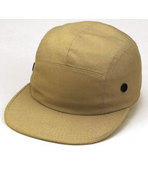 5 panel khaki tan jockey skate flat bill vented adjustable baseball hat cap