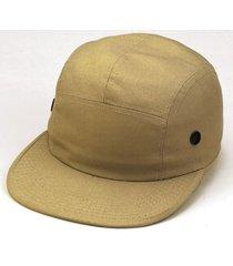5 panel khaki tan jockey skate flat bill vented adjustable baseball hat cap