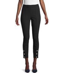 rag & bone women's simone snap-hem crop pants - black - size 0