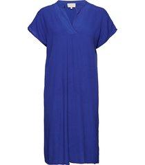 lilja dress jurk knielengte blauw minus