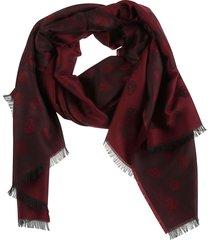 alexander mcqueen all-over skull scarf
