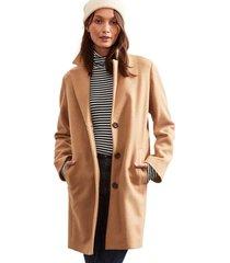 abrigo largo beige gap