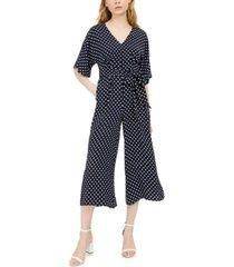 inc v-neck polka-dot jumpsuit, created for macy's