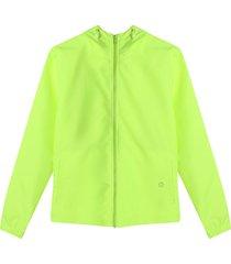 chaqueta antifluido mujer color verde neon color verde, talla s