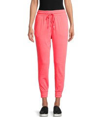 free people movement women's the way you move joggers - hot watermelon - size xs