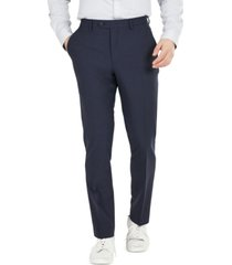 bar iii men's slim-fit solid wool suit pants, created for macy's