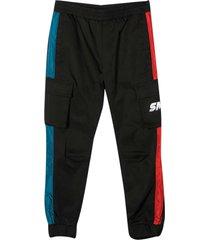 stella mccartney kids black sporty trousers teen