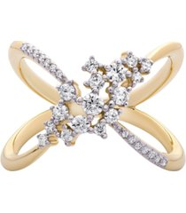 diamond open-work ring (1/2 ct. t.w.) in 14k gold
