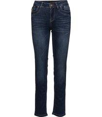 karolina highwaist straight raka jeans blå pulz jeans