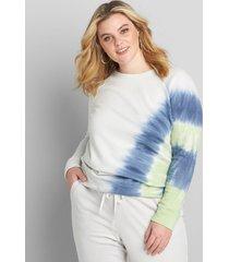 lane bryant women's livi sweatshirt - tie-dye 26/28 glacier gray