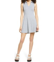 bp. polo tank dress, size x-large in grey light heather at nordstrom