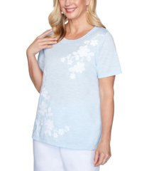 alfred dunner petite bella vista embroidered top