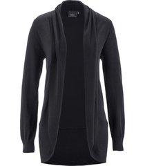 cardigan aperto in filato fine (nero) - bpc bonprix collection