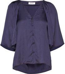 rodebjer lara blues blouses short-sleeved blauw rodebjer