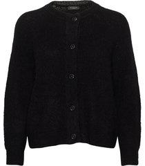 slflulu ls knit short cardigan gebreide trui cardigan zwart selected femme