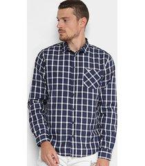 camisa triton xadrez comfort masculino