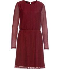 abito in chiffon con lurex (rosso) - bodyflirt