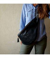nerka -plecak- czarna skóra - rozmiar xxl