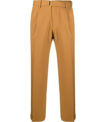 briglia 1949 belted straight-leg trousers - brown