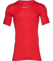 pro control compression tee unisex t-shirts short-sleeved röd craft