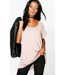 basic oversized t-shirt, steenrood