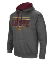 colosseum minnesota golden gophers men's poly performance hooded sweatshirt
