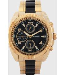 reloj dorado-negro virox