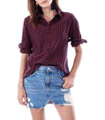 women's loyal hana riley maternity/nursing blouse, size x-small - red