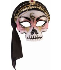 buyseasons women's fortune teller half mask skull with scarf