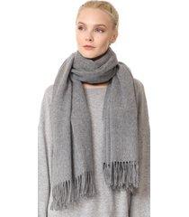 women's 100% lambswool grey canada fringed wool scarf soft wrap shawl