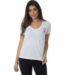 t-shirt daniela cristina outubro rosa 602dc10333 branco p - feminino