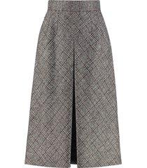 dolce & gabbana check pattern wool skirt