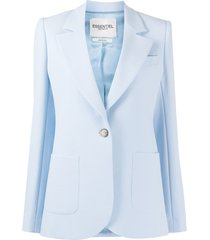 essentiel antwerp vactive single-breasted blazer - blue