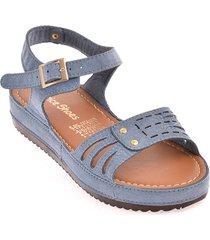 priceshoes sandalia plana dama 162307indigo