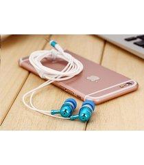 audífonos bluetooth deportivos inalámbricos, nuevo st-007 estéreo auricular bajo de metal manos libres auricular auriculares de 3,5 mm (azul)