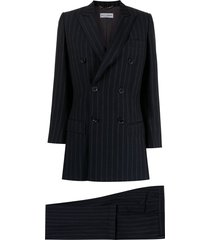 dolce & gabbana pre-owned relaxed-fit pinstriped two-piece suit - blue