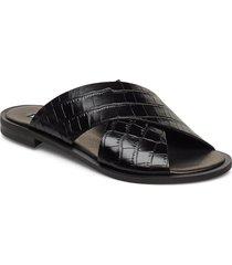 wide cross round shoes summer shoes flat sandals svart apair
