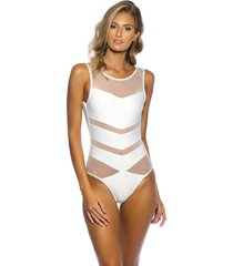 body kalini beachwear tule exclusive branco