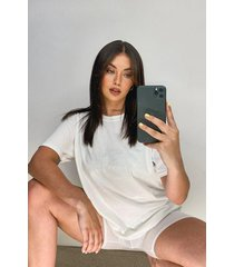oversized t-shirt en shortset, wit
