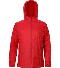 chaqueta hombre x-static hoodie rojo doite