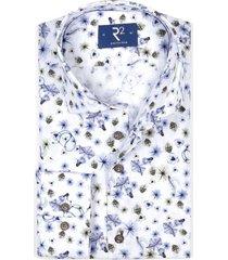 r2 shirt mouwlengte 7 wit met fleurige print