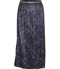 skirt-light woven knälång kjol blå brandtex