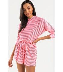 breanna striped shorts - pink