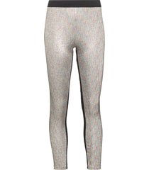 paco rabanne lurex stretch leggings - metallic