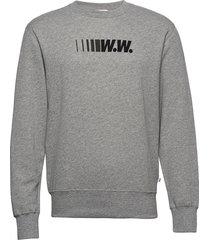 hugh sweatshirt sweat-shirt tröja grå wood wood
