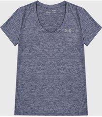 camiseta azul under armour twist v-neck short sleeve,