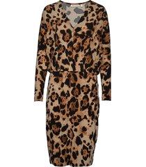 oritiw pencil dress knälång klänning brun inwear
