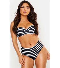 paphos mix & match nautical underwired bikini top, black