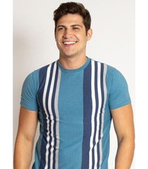 camiseta aleatory listrada vertigo masculino - masculino