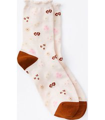 loft lou & grey wildflower ruffle crew socks